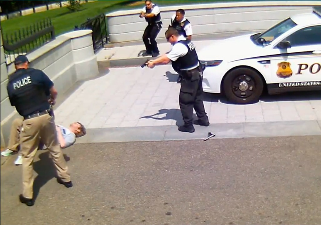 White House releases video of man shot by Secret Service