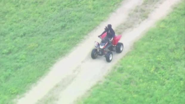 Weird 20 Minute Police Pursuit With ATV