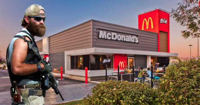 Armed Men Attempt to Rob McDonald's Full of Special Forces Soldiers