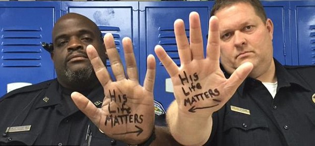 Black Lives Matter To The Thin Blue Line