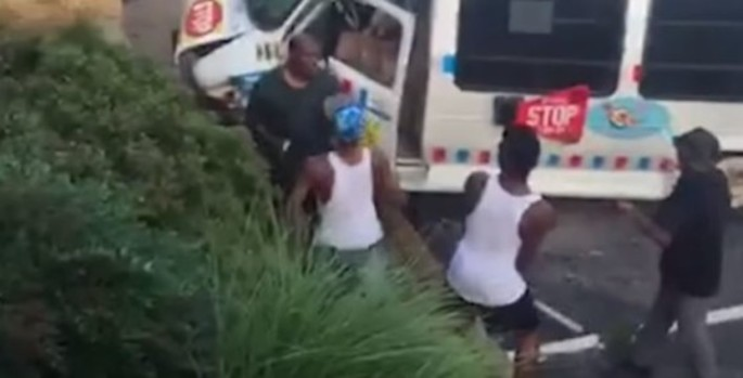 Watch Ice Cream Vendor Brutally Beaten And Robbed