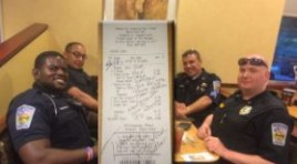 Officers Pay Bill Of Couple Who Refused To Sit Next To Them At Restaurant