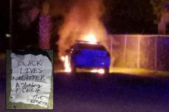 Daytona Police Car Firebombed Outside Islamic Center