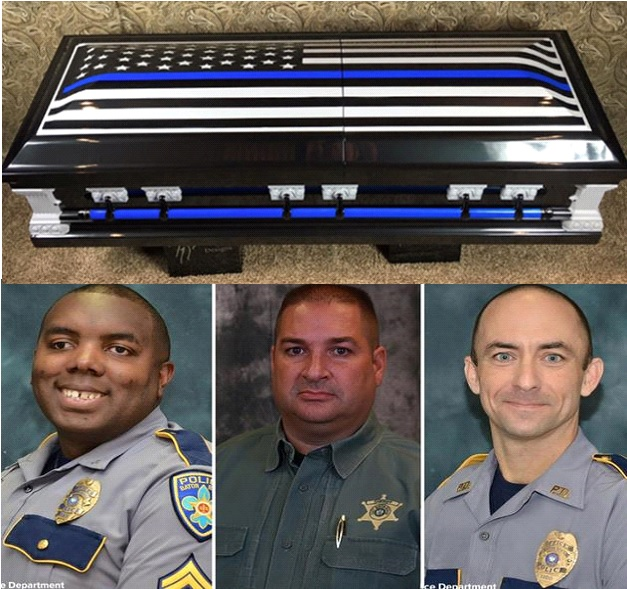 Company Donates Custom Caskets To Families Of Fallen Officers