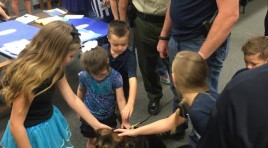 Elementary School Welcomes Injured Arkansas K9 Back