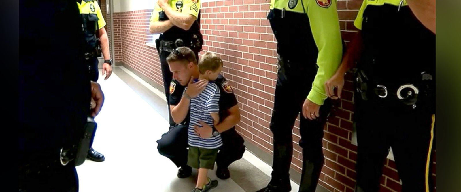 Police Officers Surprise Fallen Comrade's Kids on 1st Day of School