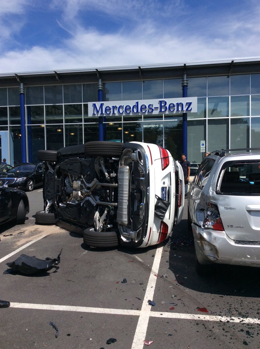 Woman Flips Mercedes-Benz SUV On Side During Test Drive