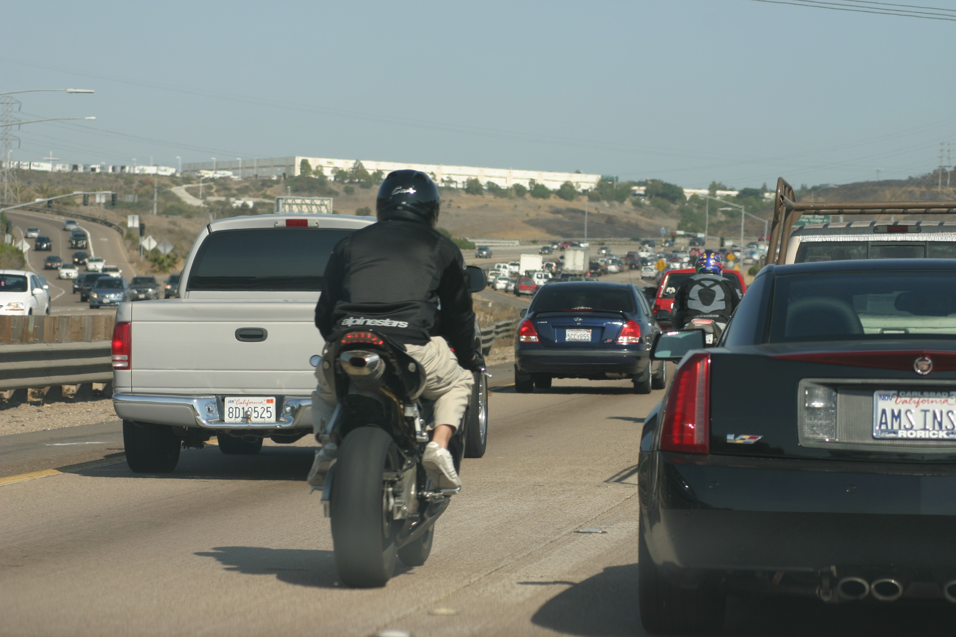 California Becomes First State To Legalize 'Lane Splitting'