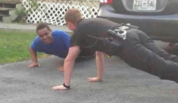 Deputy Does Push-Ups With Autistic Man To Calm Him Down