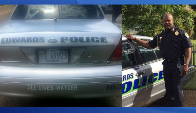 Police Chief Puts 'All Lives Matter' On Police Cruisers