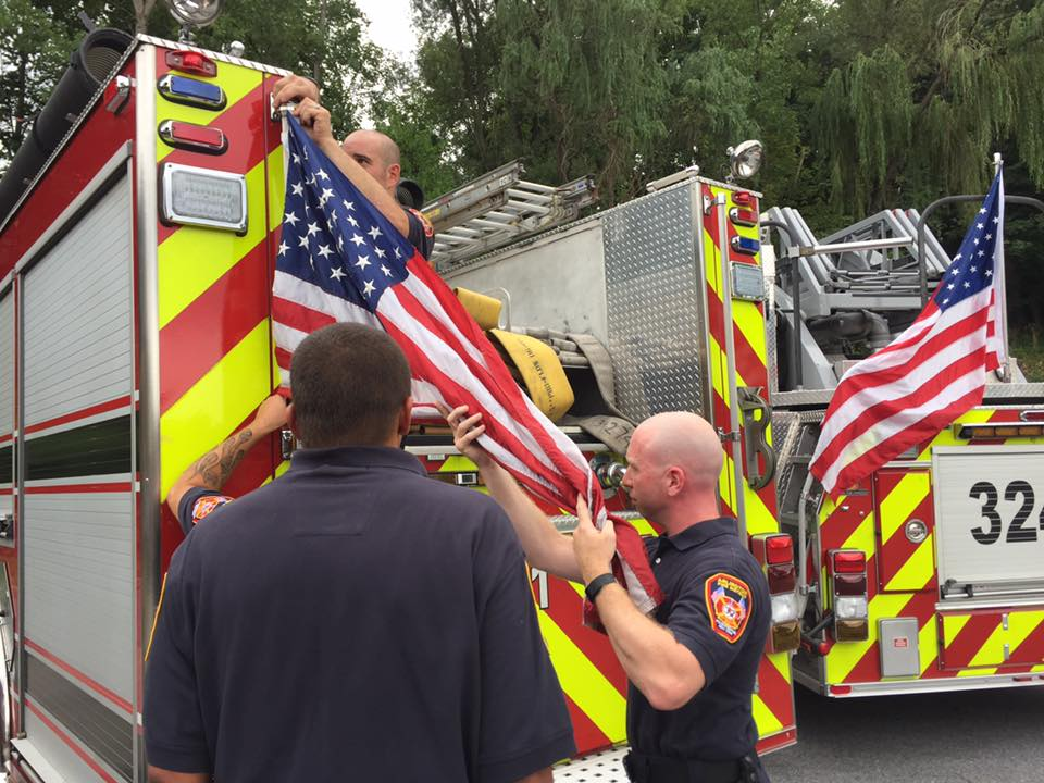 'Distracting' American Flags Ordered Removed from Fire Trucks