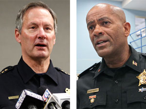 In Milwaukee, A Black Sheriff Clashes With the City's White Police Chief