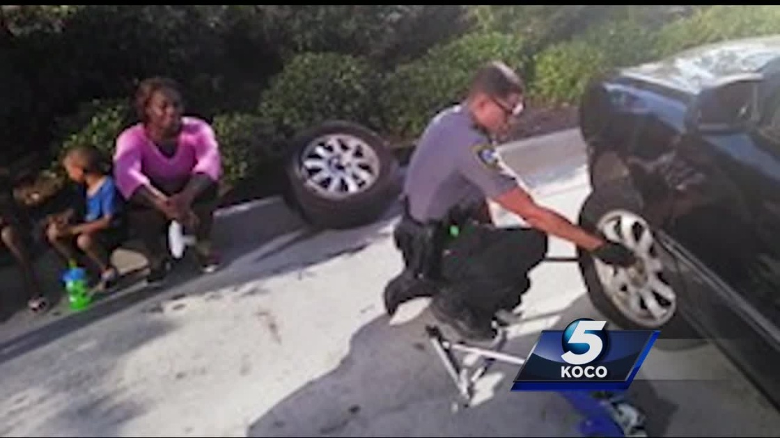 Bystander Captures Oklahoma City Officers Helping Mother, Children