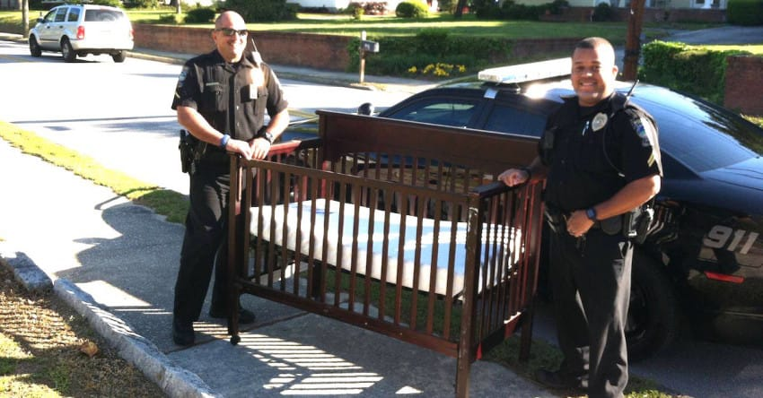 Police Officers Save The Life Of Baby, Find A Crib In Unusual Location