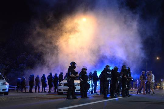 Charlotte Police Officer Ran Over By Protesters, Crowd Cheers