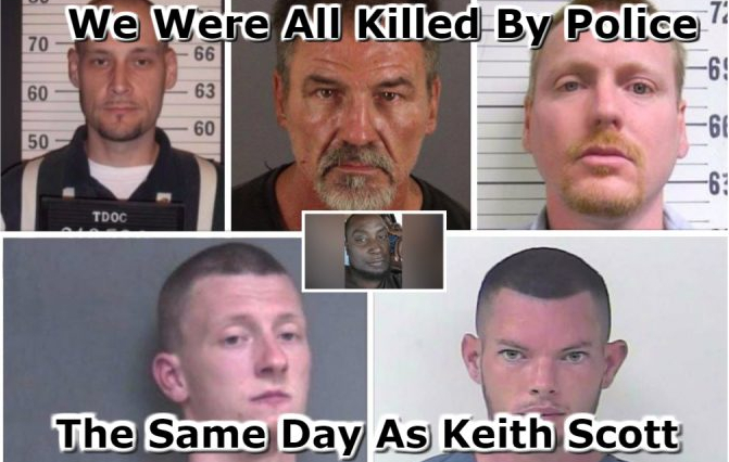 5 Whites Were Killed The Same Day As Keith Scott