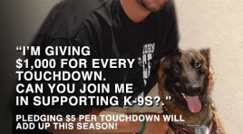 Ben Roethlisberger Throws Touchdowns and Police K9's Get Protected