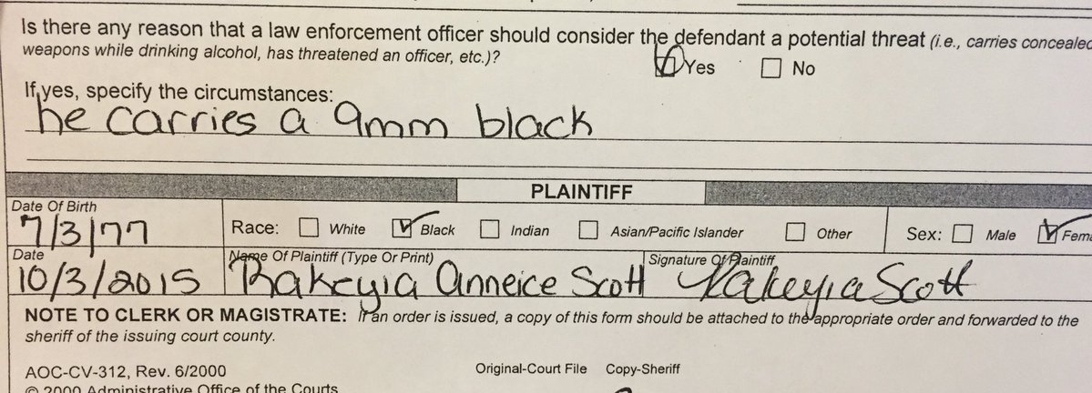 Keith Lamont Scott Had Threatened Wife With Gun