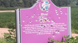 Historical Marker Honoring Emmett Till Riddled With Bullet Holes