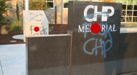 CHP Officer Memorial Defaced