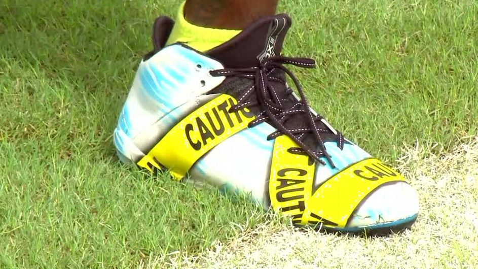 NFL Player Protests Police Killings With Custom Cleats