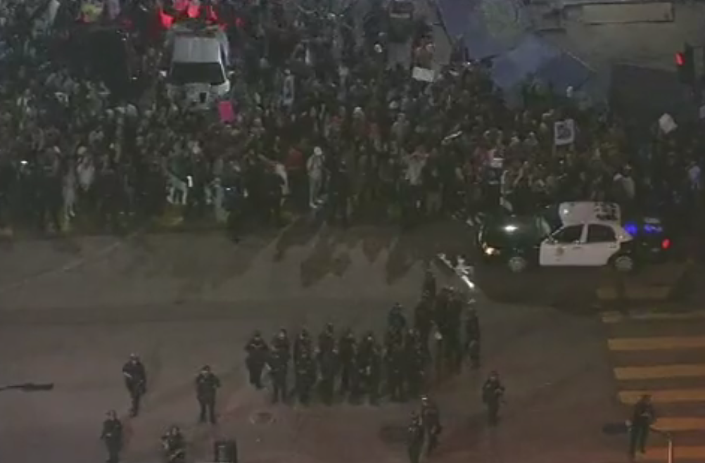 180 Arrests, 1 Officer Injured During Another Night of L.A. Protests
