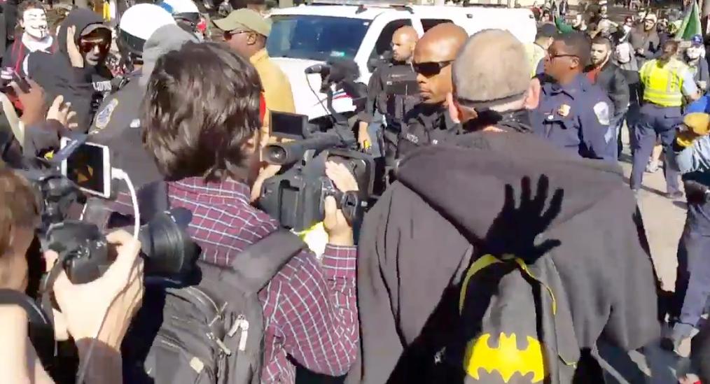 FBI Building, Trump Hotel Vandalized During Million Mask March