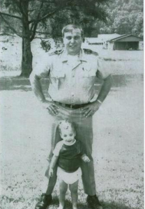 Here with my dad, law enforcement was always a part of the family.