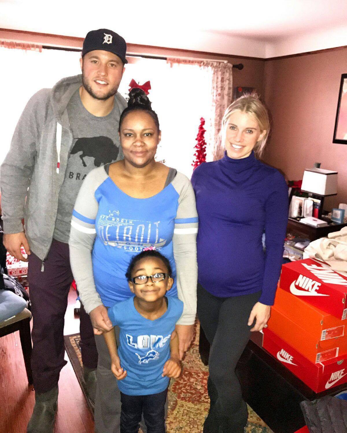 Matthew Stafford And His Wife With The Jarrett Family