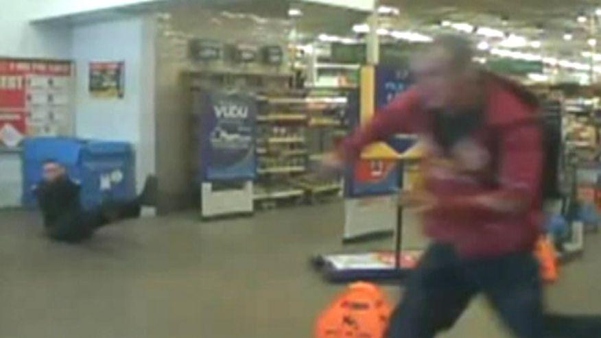 Watch Dramatic Police Gunfight In Walmart
