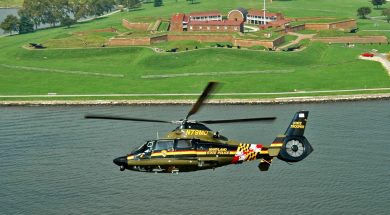 MSP helo over Ft McHenry
