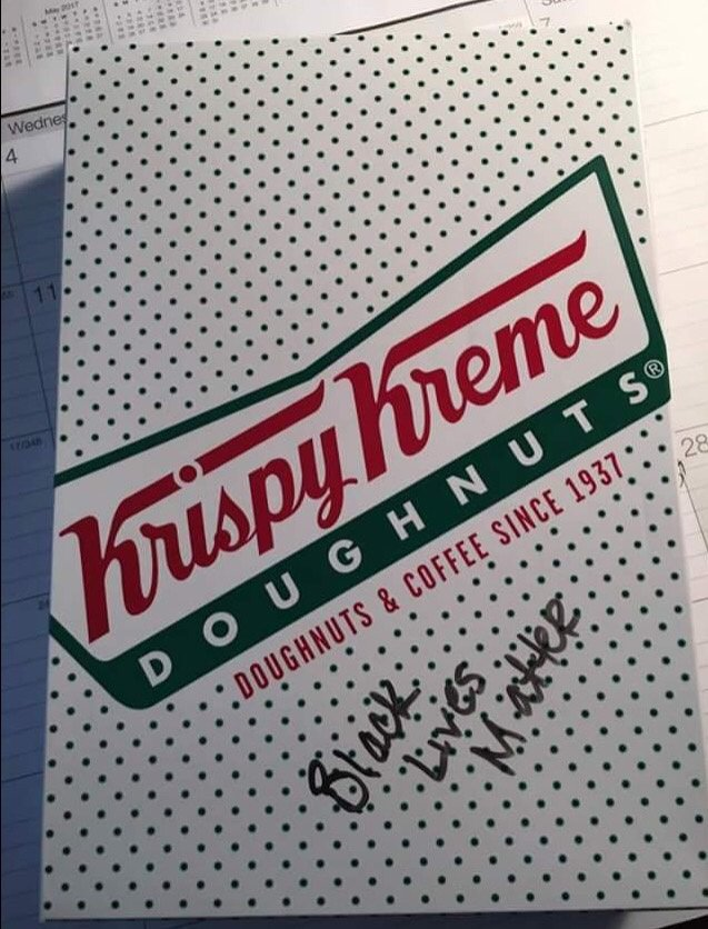 Krispy Kreme Employee Writes 'Black Lives Matter' on Officer's Order