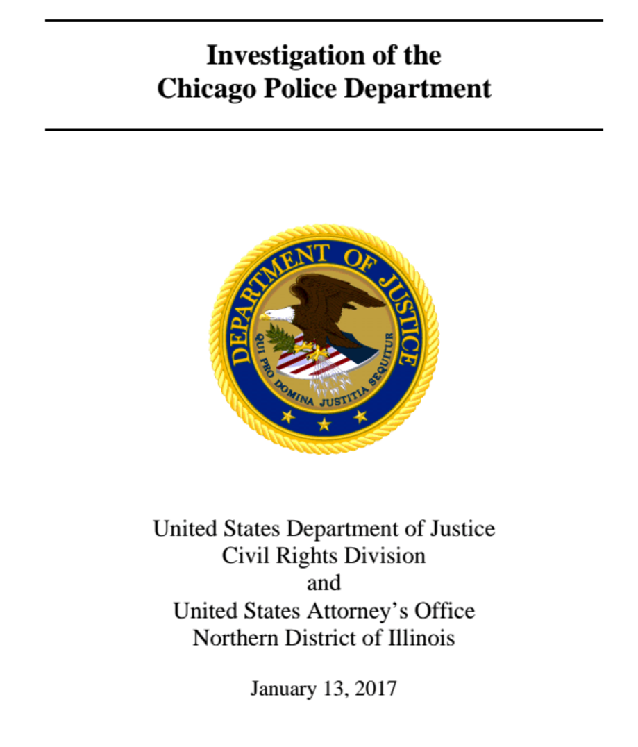 "DOJ Announces Findings In Chicago Police Investigation:  ""Pattern of Civil Rights Violations"""
