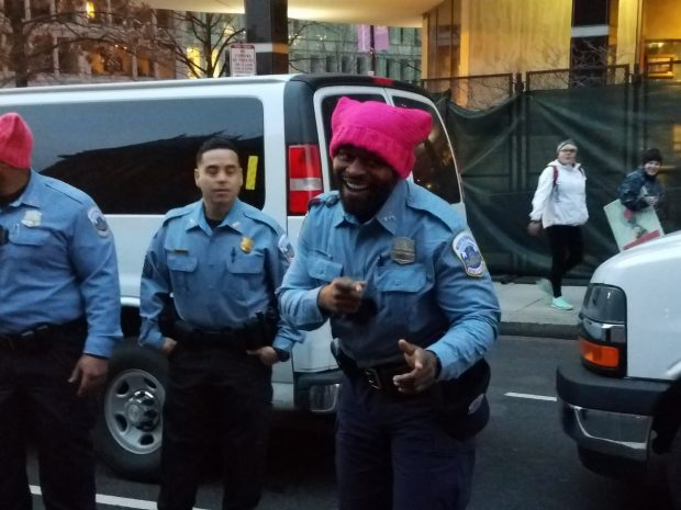 DC Police Wear Pussy Hats In Solidarity With Women Protesters