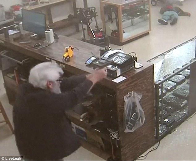 Gun Store Owner Shoots Robber Dead