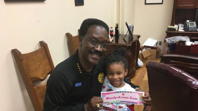 Girl Spreads Love By Hugging Law Enforcement Officers