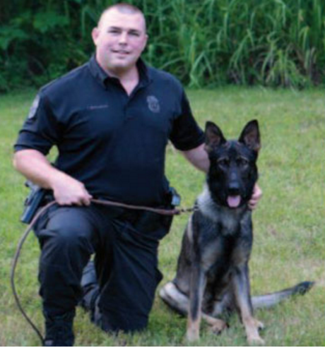 K9 Officer Bergman was placed on administrative leave, He is a 12 year veteran.