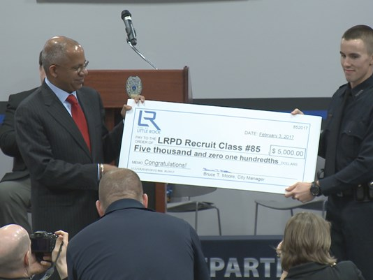 New Little Rock Police Officers Get Surprise Bonus Money