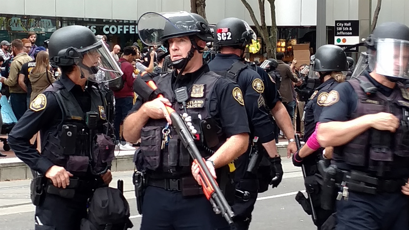 ACLU Tells Portland Police To Stop Using Riot Gear