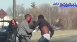 Watch State Trooper Dragged By Suspect, Bloodied, And Keeps Fighting