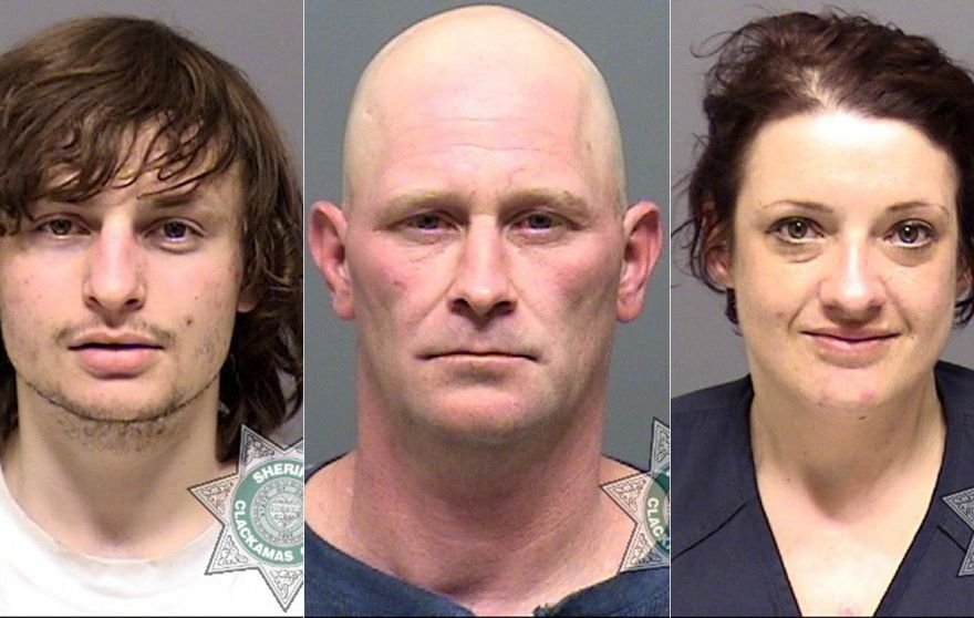 Left to right: Austin Kollas, Timothy Elmore, Lonnette Denison (Clackamas County Sheriff's Office)