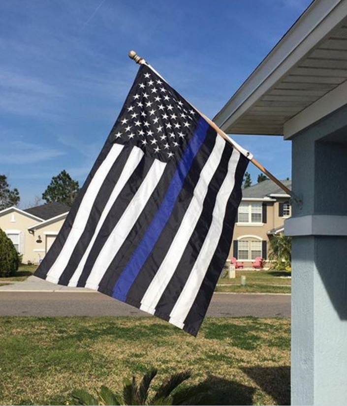 Homeowner Told To Take Down Thin Blue Line Flag