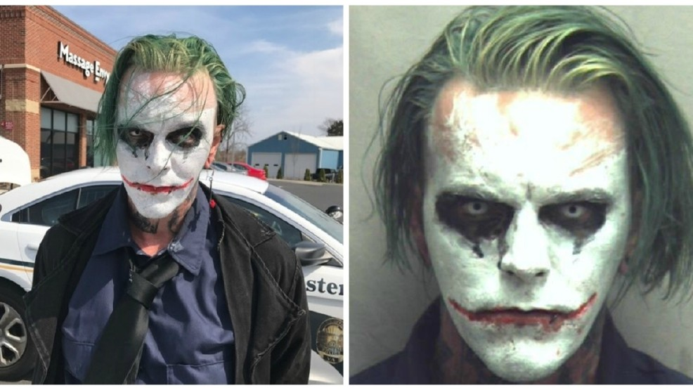 Police Arrest Man Carrying A Sword, Dressed As The Joker