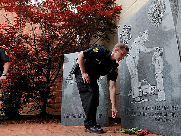 Pipe Bomb Found At Police Memorial