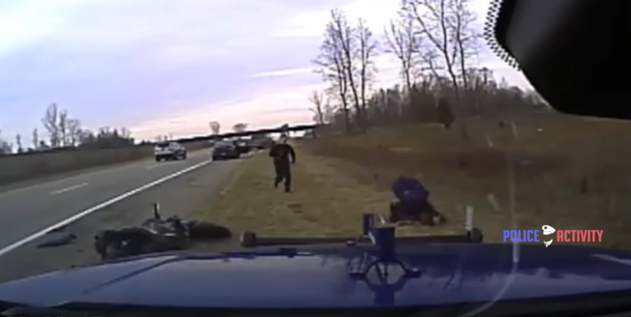 Watch Michigan Trooper Attacked By Two Men After Pursuit