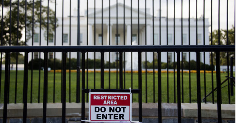Intruder Breaches The White House Grounds With Backpack