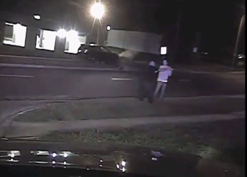 Watch Dramatic Video Of Police Officer Disarming Suspect