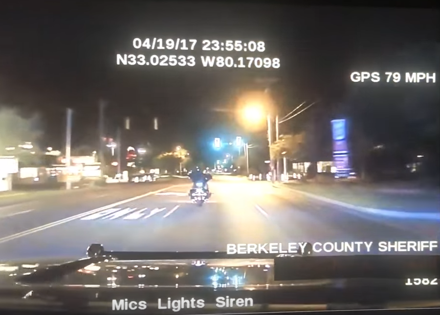 Watch Deputy Strike Motorcycle In High Speed Pursuit