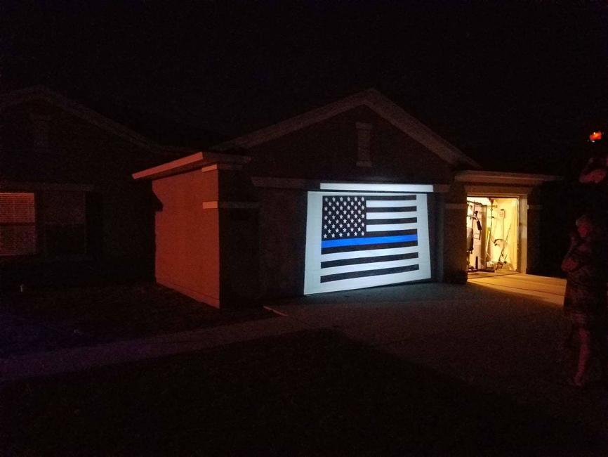 Homeowner Finds New Way To Fly Thin Blue Line Flag