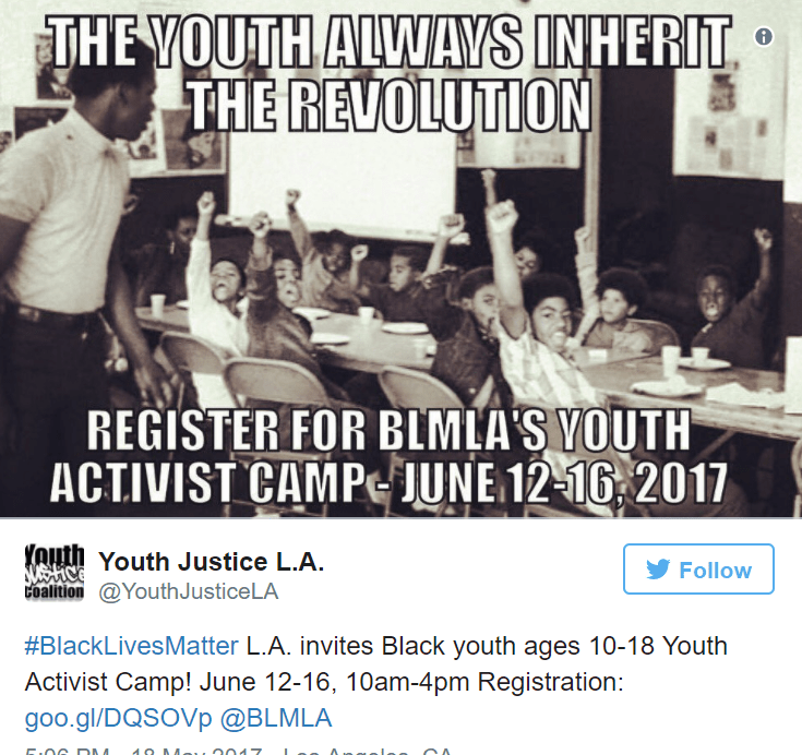 Black Lives Matter Offers Summer Camp For Kids